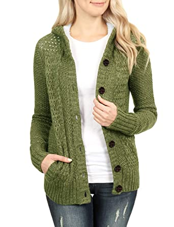 Luyeess Womens Casual Open Front Hoodie Cable Knit Cardigan Sweater Coat  Jacket at Amazon Women s Clothing store  5b0125170