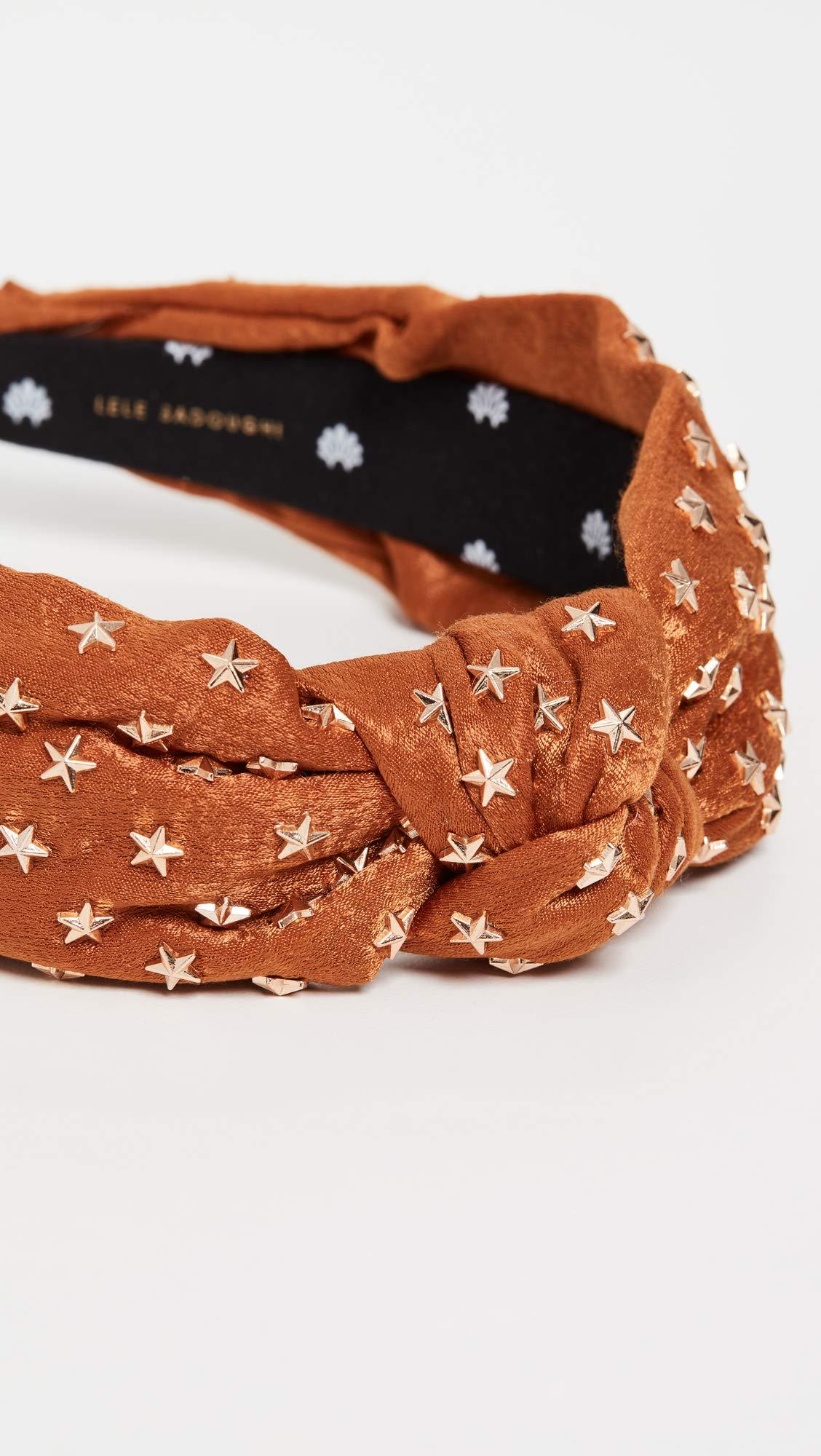 Lele Sadoughi Women's Star Studded Silk Knotted Headband, Copper, Metallic, Bronze, Orange, One Size by Lele Sadoughi (Image #4)