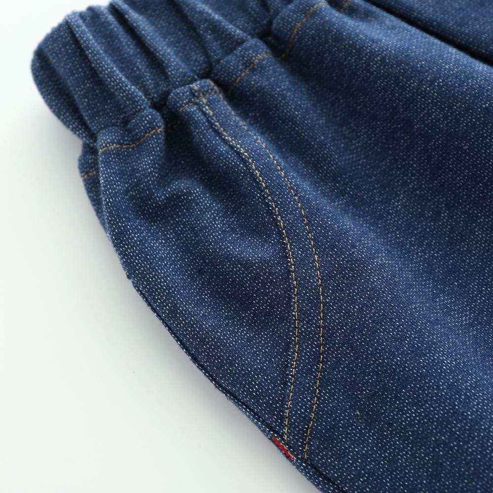 Color : Blue, Size : 110 XINXINHAIHE Toddler Boys Spring Autumn Cotton Thin Long Jeans