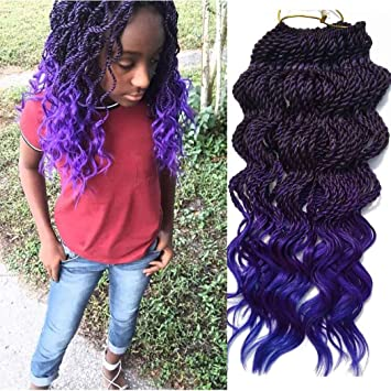 Amazon Com 6packs 18 Wavy Senegalese Twist Crochet Braid Hair