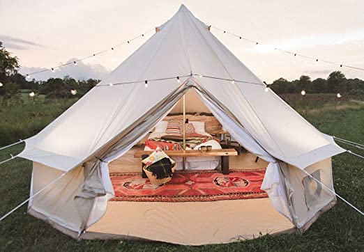 Dream House Waterproof Luxury Four Seasons Family C&ing Bell Tent Safari Tourist Tent Tents - Amazon Canada & Dream House Waterproof Luxury Four Seasons Family Camping Bell ...