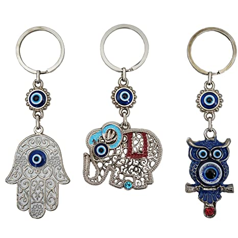 Amazon.com: Bead Global – Llavero de amuleto con ojo turco ...