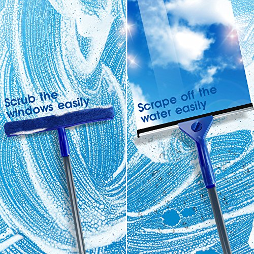 Masthome Squeegee and Microfiber Window Washer Squeegee Sets with Adjustable Handles Perfect for Window&Car Cleaning by Masthome (Image #1)