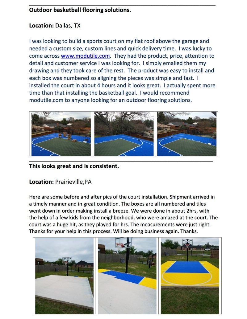 amazon com outdoor basketball half court kit 20ft x 24ft lines