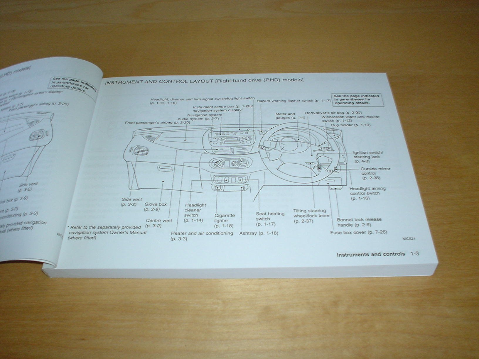 Nissan Almera Tino Owners Manual Handbook 2000 2006 18 20 Fuse Box In Litre Petrol Engine 22 Ddti Diesel Hand Book