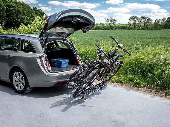Eufab 12010LAS Raven - Portabicicletas plegable para 2 bicicletas: Amazon.es: Coche y moto
