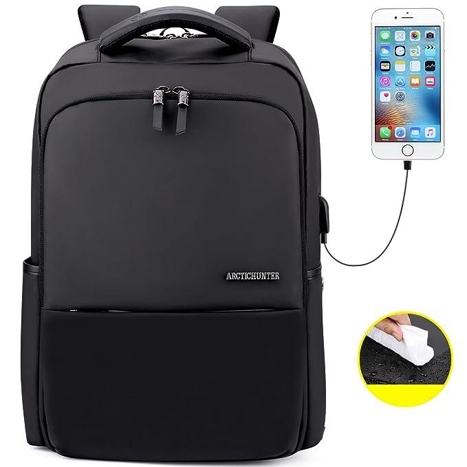 7e3f6704c9 Amazon.com  AH ARCTIC HUNTER Mens Waterproof 15.6 Inches Laptop Backpack  School Business Travel Book Bag  Computers   Accessories