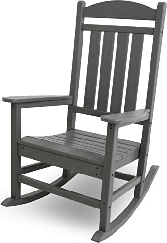 POLYWOOD R100GY Presidential Outdoor Rocking Chair