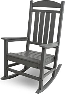 product image for POLYWOOD R100GY Presidential Outdoor Rocking Chair, Slate Grey
