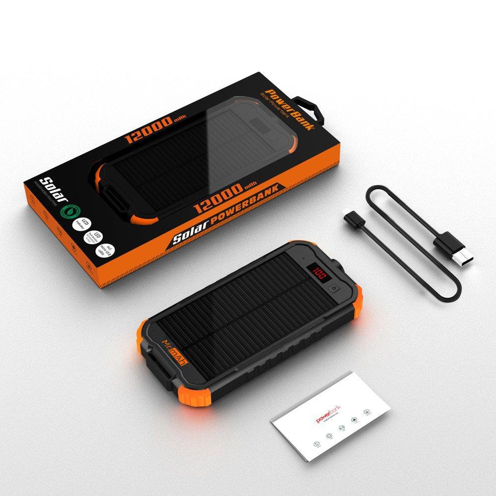 Amazon.com: Cargador solar, el Sr. mAh 12000 mAh Portable ...