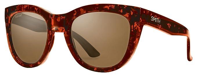 Smith Sidney Sonnenbrille Damen Red Yellow Tortoise/Brown Gradient Bunt Flecked Blue Tortoise/Blue Flash 52 mm DD3qTMerb
