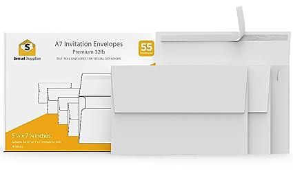 amazon com white invitation 5 x 7 envelopes for 5x7 cards a7