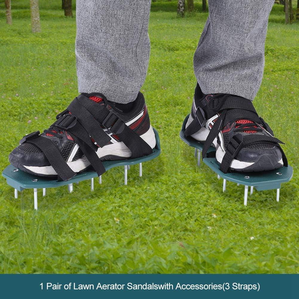 3 Straps Sandali da Prato per Patio da Giardino AMONIDA Attrezzo da Giardinaggio Scarpe a Spillo con aeratore allentante Regolabile 11,81x5,12 Pollici