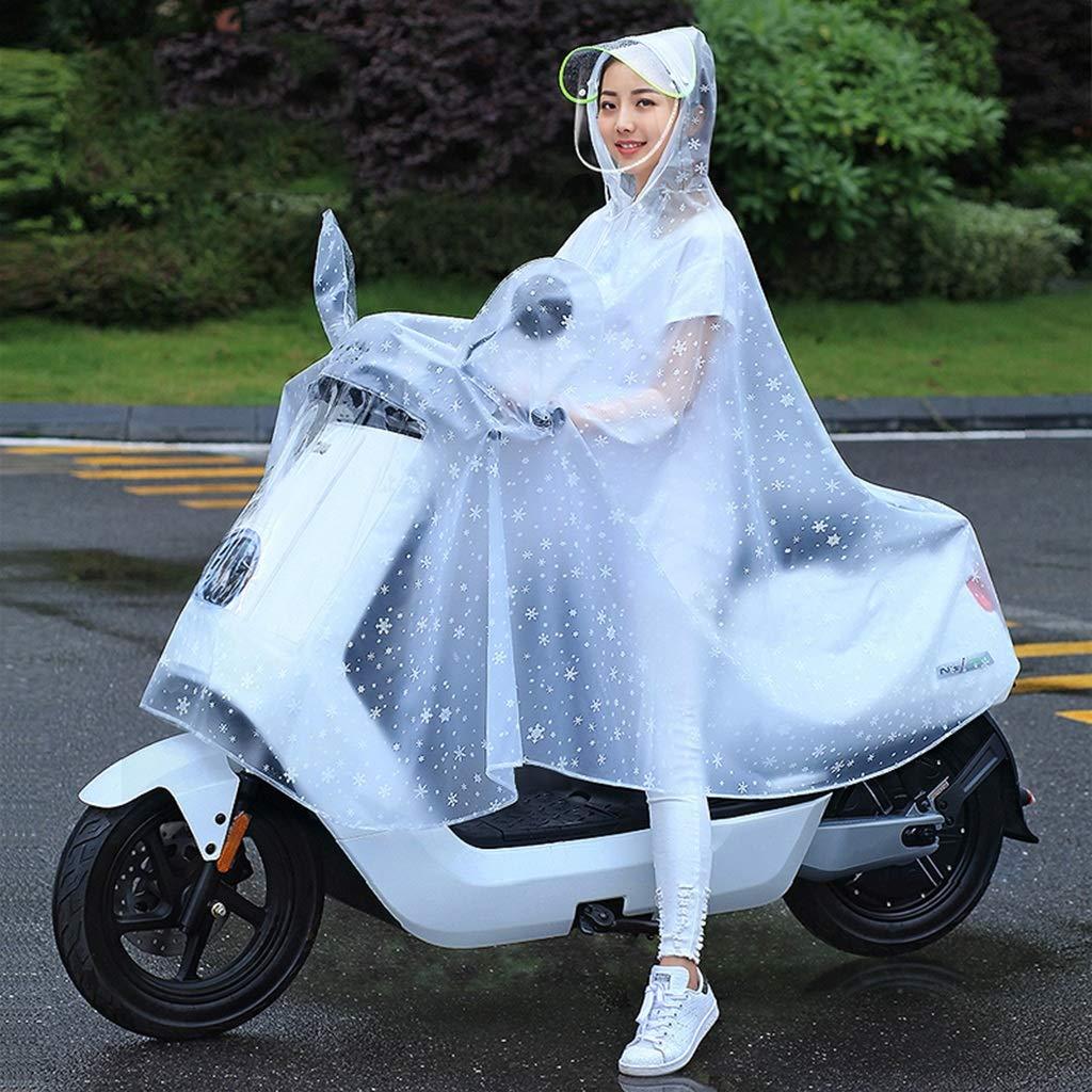 A XXXL Imperméable de Moto électrique de Poncho Transparent avec la Couverture de Miroir d'équitation Simple imperméable imperméable (Couleur   A, Taille   XXXL)