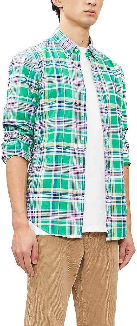 Camisa Ralph Lauren Slim Fit Cuadros Verde Hombre: Amazon.es: Ropa y accesorios