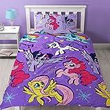 My Little Pony MOVIE Repeat Print Design Adventure Duvet Set, Multi-Colour, Single