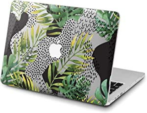 Lex Altern Clear Case for Apple MacBook Air 13 Mac Pro 15 inch Retina 12 11 2020 2019 2018 2017 2016 Palm Touch Bar Plastic Abstract Women Geometry Design Laptop Green Art Leaves Shell Tropical
