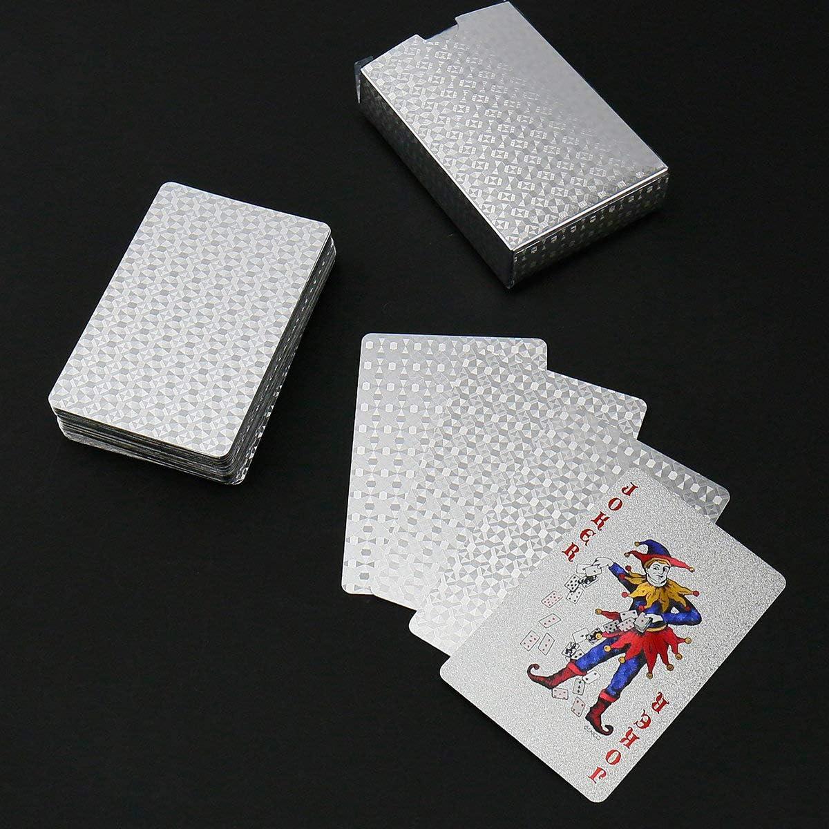 Weekend/&Lifecan Wasserdichtes Pokerkarten siliver-01