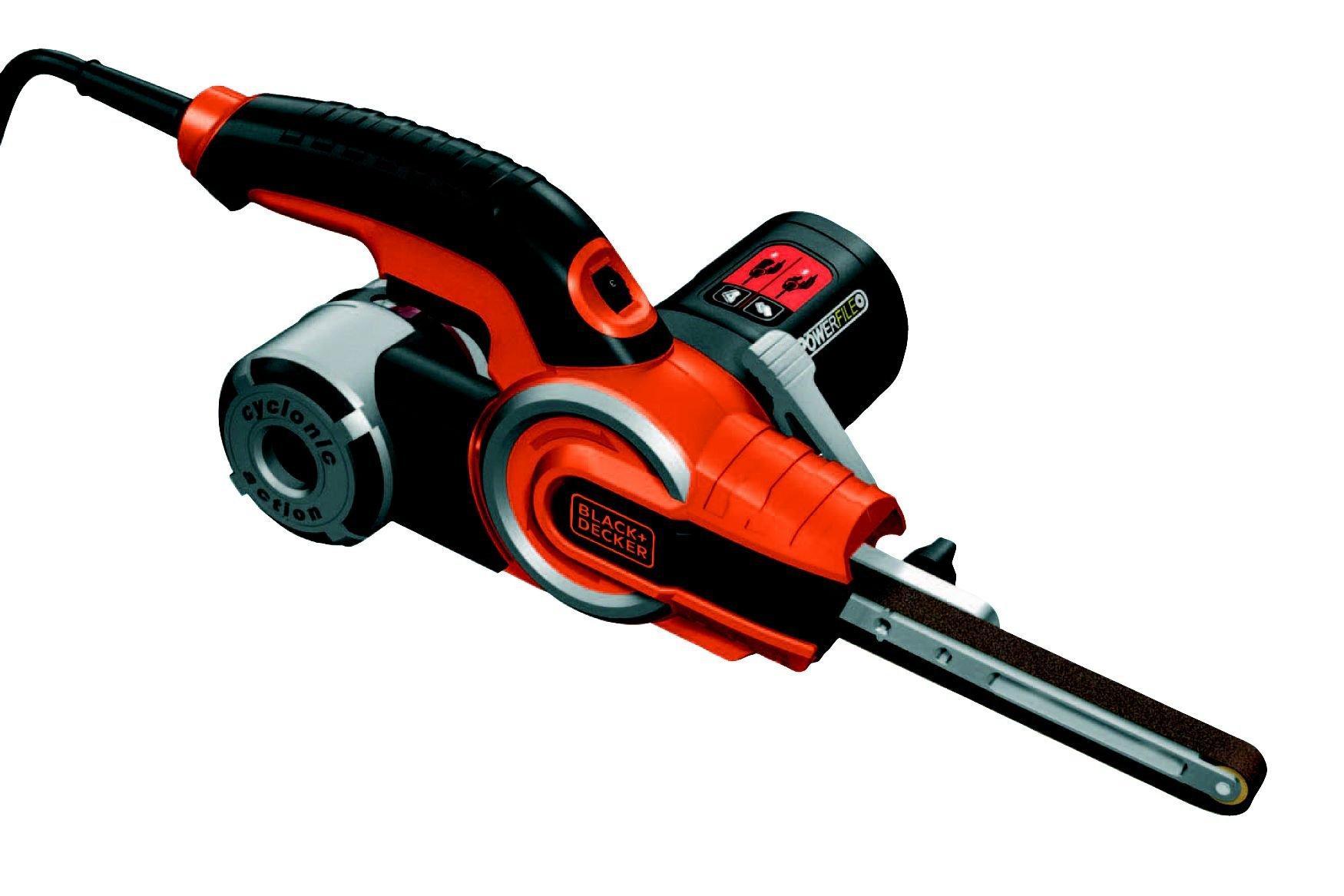 BLACK+DECKER KA902EK-QS Lime électrique filaire - 400W - 455 *13 mm - 900-1400 trs/min - variateur de vitesse - Accessoires : 2 bras droits 13 et 6mm, 1 bras coudé 13 mm, 6 bandes abrasives product image