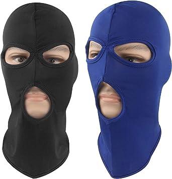 2 unidades de secado r/ápido transpirable M/áscara de balaclava para la cara de licra