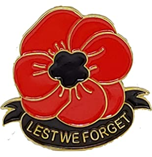 SOLDIER RED POPPY LEST WE FORGET BADGE ARMY NAVY RAF WW1 remembrance Armistice