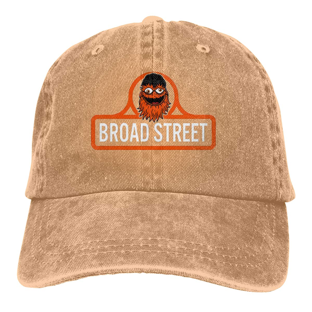 Time machined Gritty Broad Street Adjustable Visor Cotton Washed Denim Hats Black