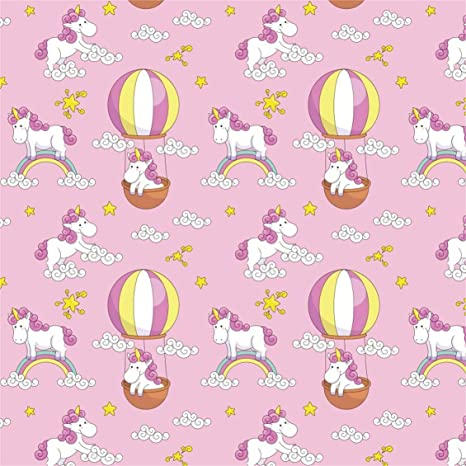 CSFOTO 5x5ft Background Unicorn Children Birthday Party Decor Photography Backdrop Baby Shower Cute Rainbow Fire