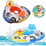 JYOHEY Schwimmring Baby Aufblasbarer Schwimmring Kinder Schwimmring Mädchen Junge Aufblasbare Baby Float Auto Form Mit Lenkrad Für Kinder