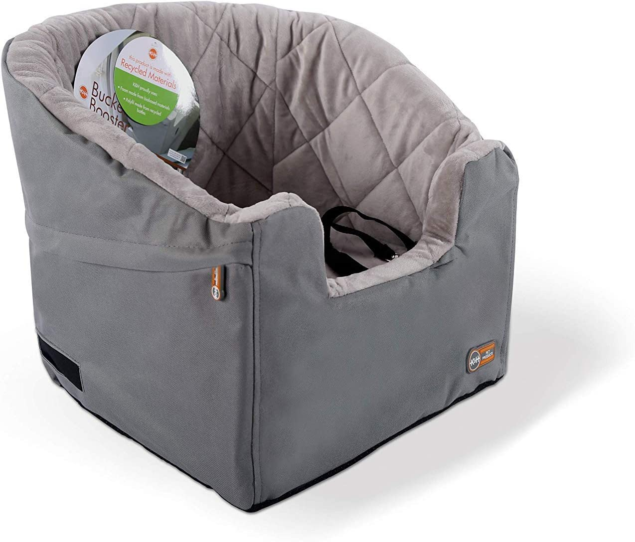"""K&H Pet Products Bucket Booster Dog Car Seat Small Gray 14.5"""" x 20"""" : Automotive Pet Booster Seats : Pet Supplies"""