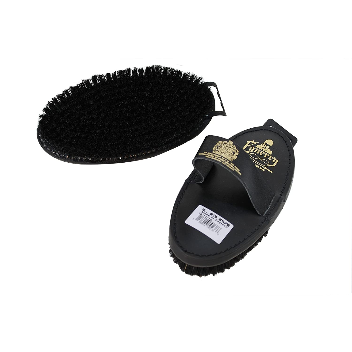 May Vary One Size May Vary One Size Equerry Natural Bristle Leather Body Brush (One Size) (May Vary)