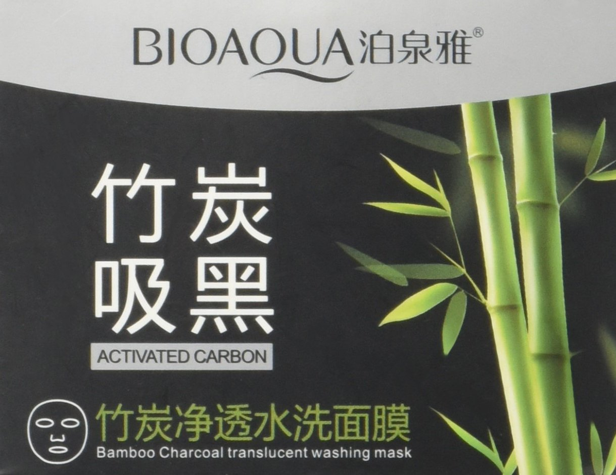 Bioaqua Activated Carbon Purifying Mask Bamboo Charcoal Black Removes Blackheads 140g Beauty