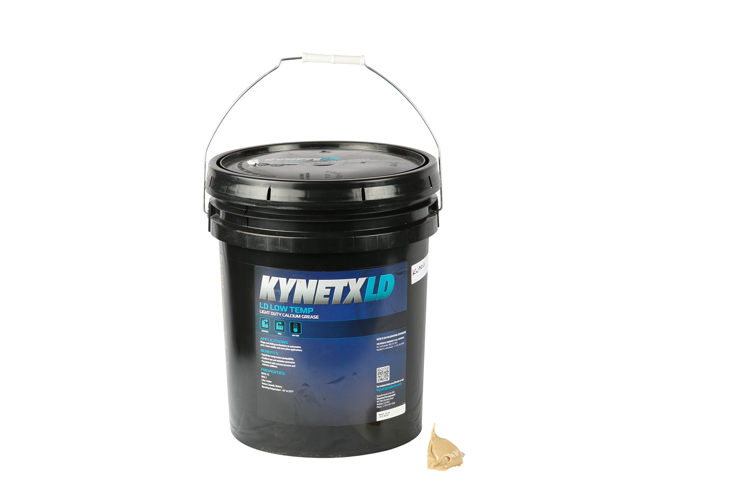 Kynetx Calcium Grease, LD Low Temp, 35 Lb. Pail, CAN2053000-KN5012, Light Duty Rust Protection, Anti-Wear, Extreme Pressure, Low Temperature Pump Ability. Automotive Grease, ISO VG 15