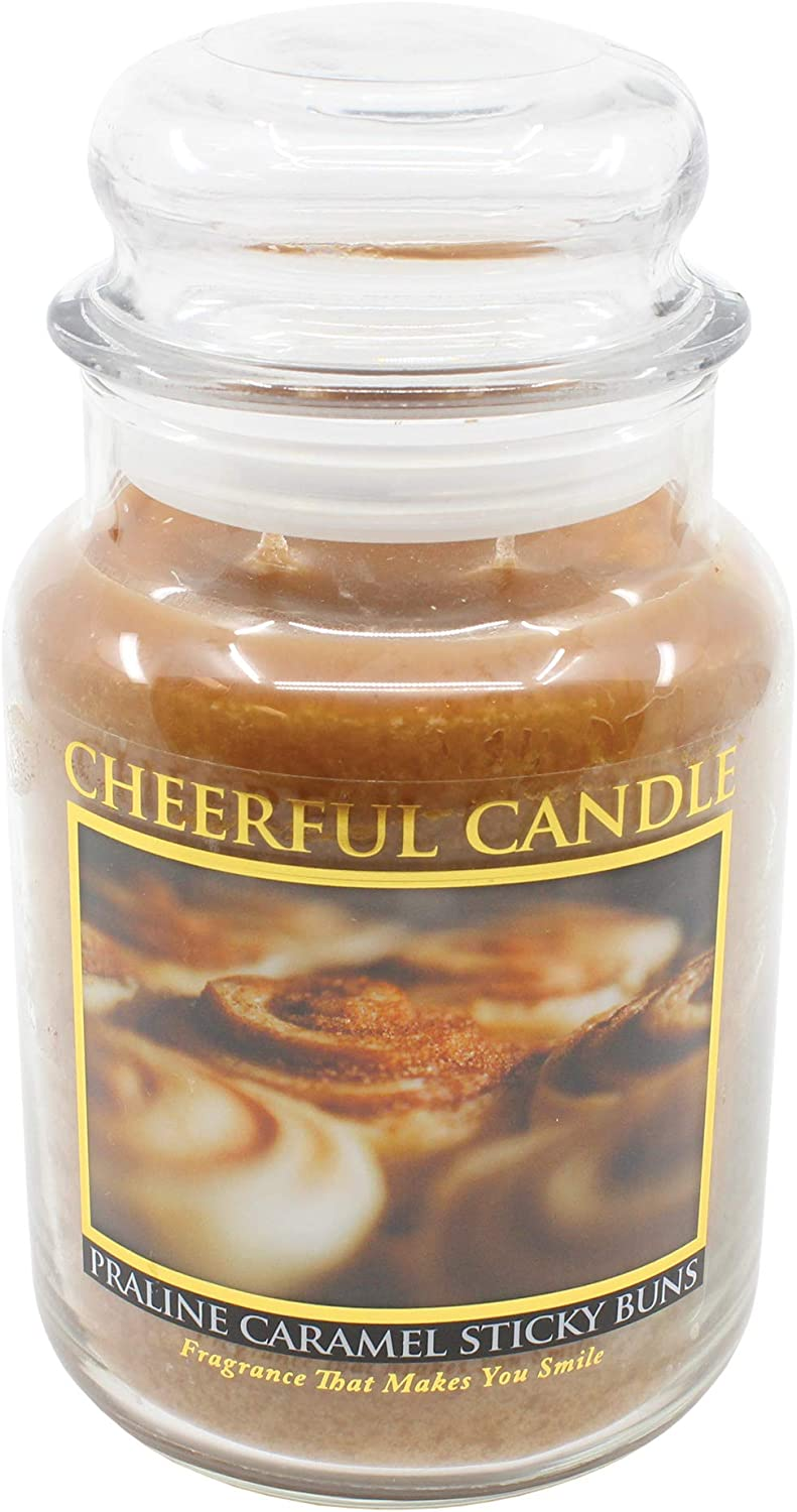 A Cheerful Giver Praline Caramel Sticky Jar Candle, 24-Ounce