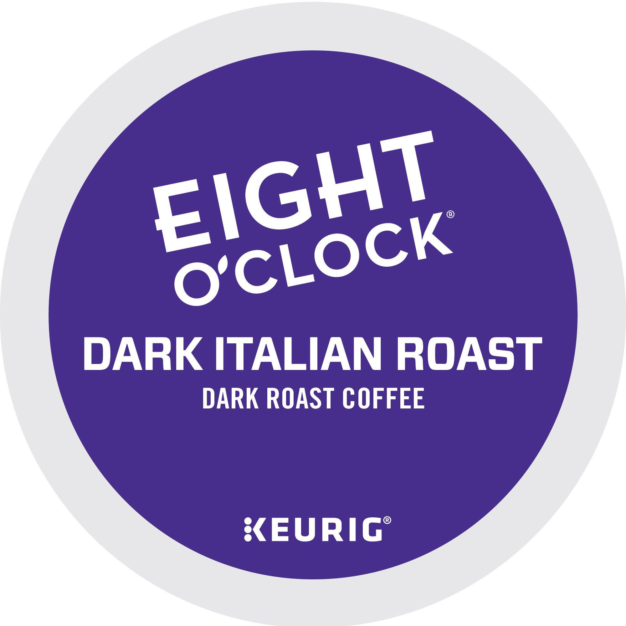 Eight O'Clock Coffee Dark Italian Roast Keurig Single-Serve K-Cup Pods, Dark Roast Coffee, 72 Count (6 Boxes of 12 Pods)