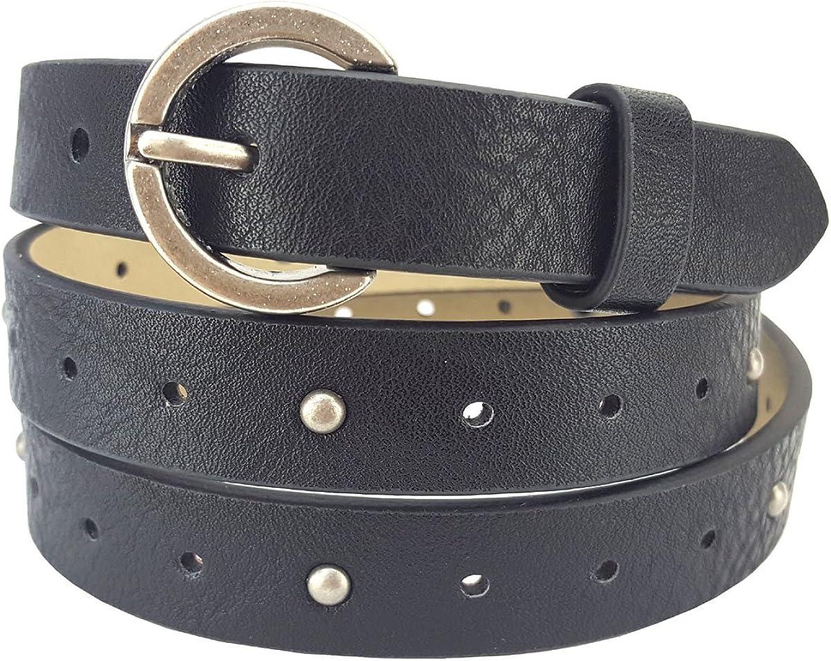 Womens versatile fashion decorative woven pin buckle leather belt