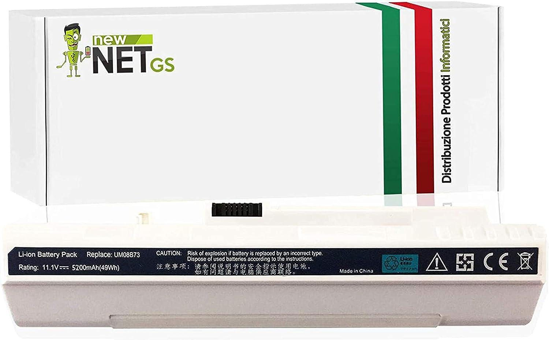 Newnet - Batería para Ordenador portátil Acer Aspire One D150-1739, D150-1860, D150-1920, D150-1B, D150-1BK, D150-1BR, D250-1026, D250-1042, 5200 mAh, 10,8/11,1 V