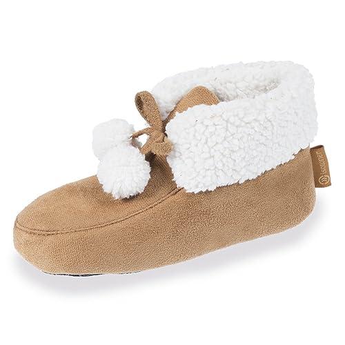Botines de casa con pompones infantiles Isotoner 29/30: Amazon.es: Zapatos y complementos