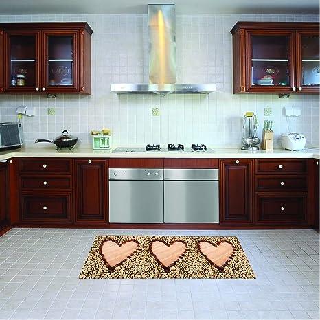 Tappeto cucina lavabile in lavatrice, passatoia cucina, 52 cm x 180 ...