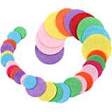 "BIHRTC Pack of 300 Mixed Color 3 Different Size Round Felt Circle Felt Pads for DIY and Sewing Handcraft (0.8""-100pcs, 1…"