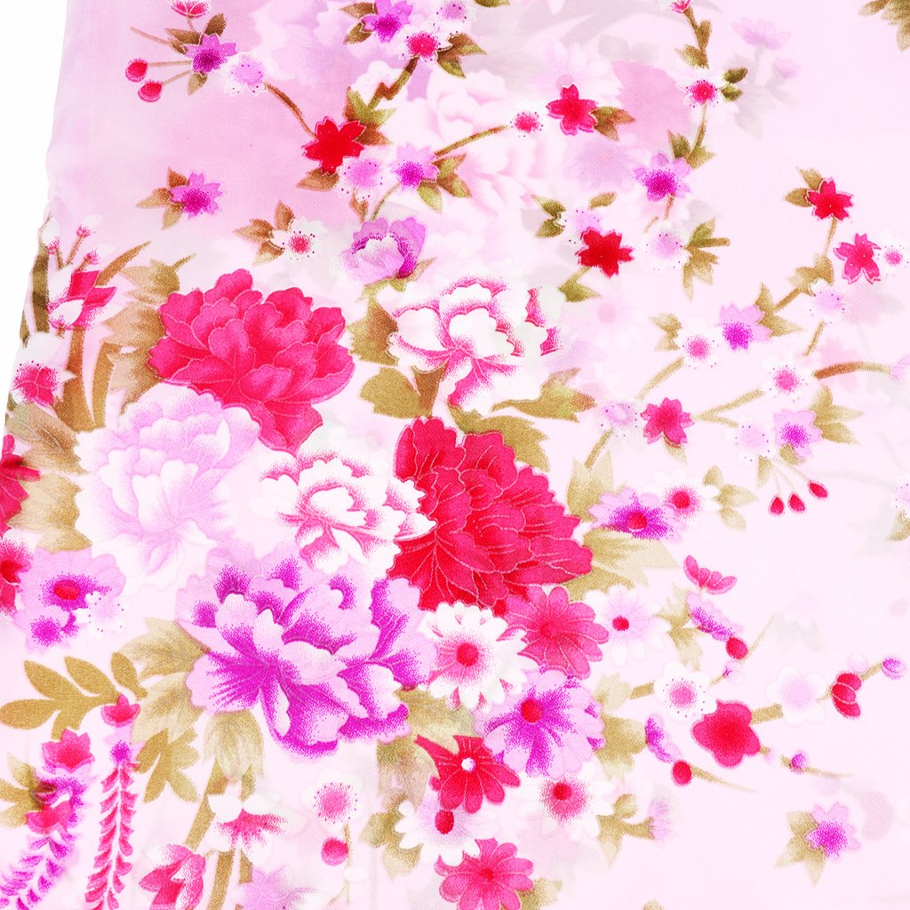 Pink Dolity Classic Chinese Kids Baby Girl Floral Flower Cheongsam//Qipao Dress Clothes 3-8Y Size 4 3-4Y