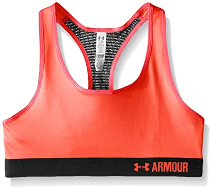 e129b366c7 Amazon.com  Under Armour Girls  HeatGear Armour Solid Sports Bra ...