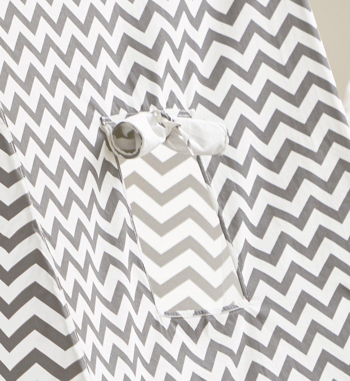 turtleplay TPE0292214010 Indoor Kid/'s Tent Grey /& White Zigzag