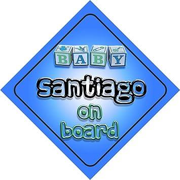 Amazon.com: Baby Boy Santiago on board novedad coche Señal ...