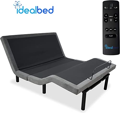 iDealBed 5i Custom Adjustable Bed Base, Wall Hugger, Massage, Zero-Gravity, Dual USB Charger, One Touch Comfort, Programmable Memory, Night Light, Advanced Smooth Silent Motion King