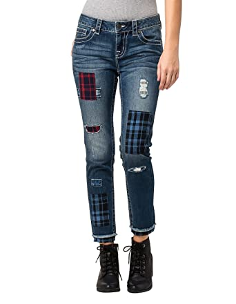 d9f2e8306b7 Amazon.com  Miss Me - Womens Mid Rise Ankle Skinny Jeans  Clothing
