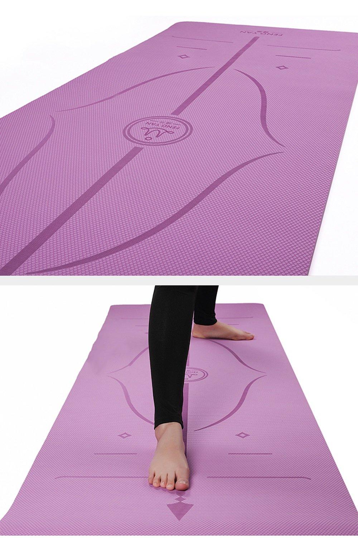 JYKJ Antideslizante TPE Yoga Pads Hot Yoga Pilates Gimnasio ...