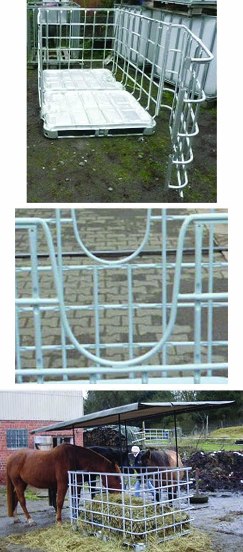 Desconocido Grandes heuraufe con puerta para juanetes con techo redondo marco & gratis de lona–-verbre itertes, dimensiones exteriores 2m x 1,27m–-con cuatro U–recortados/rundauss chnitten