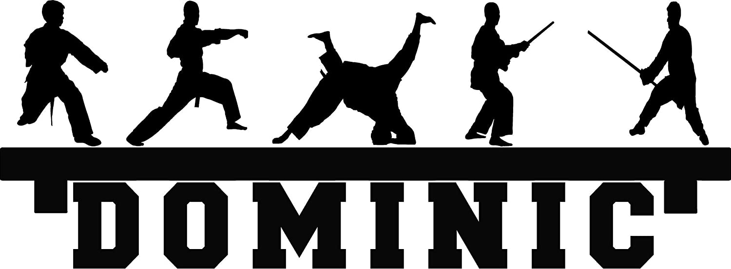 Personalized Martial Arts Kick Tae Kwon Do Shelf looking custom name Kids inspration diy wall art decor decal
