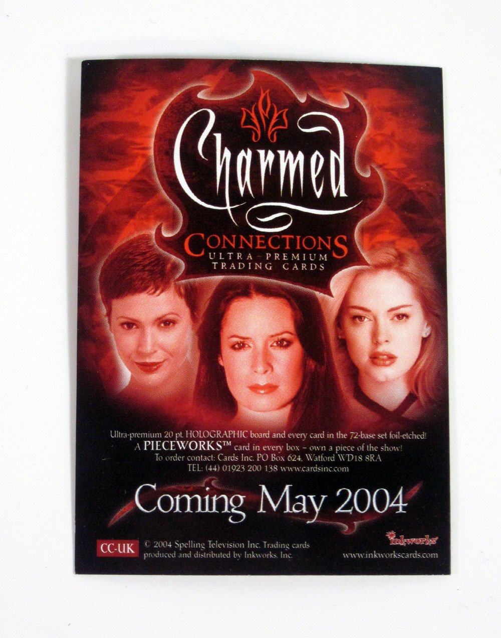 CHARMED CONNECTIONS PROMOTIONAL CARD CC-UK