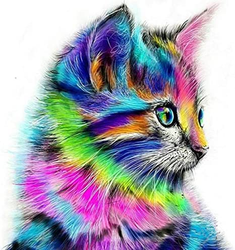 Decoration of House Living Room,Lovely cats,animals 5D DIY Diamond Painting Cross Stitch